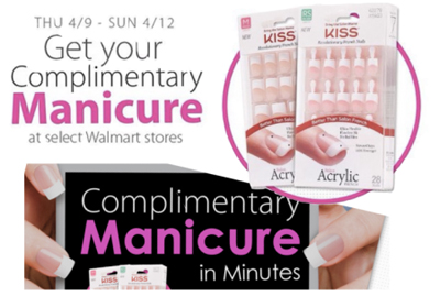 Free Kiss French Manicure At Participating Walmart Stores (US only)