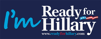 Get your free Ready for Hillary bumper sticker (US only)