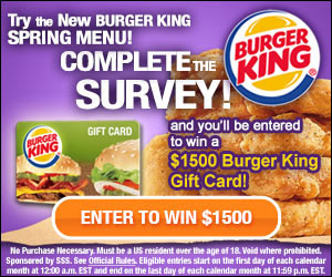 Try the New Burger King Spring Menu! (US only)