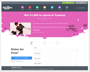 Win £1000 to Spend at Topshop (UK only)