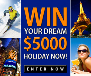 Win a $5000 Dream Holiday – AU