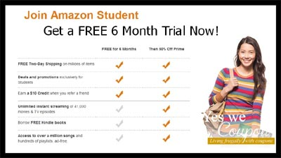 Free 6-Month Amazon Prime Membership for Students