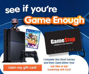 Get a $25 Gamestop Gift Card ( US only)