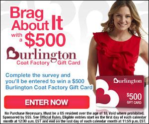 $500 Burlington Coat Factory Spree! ( US only)