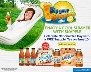 Free Snapple Iced Tea Product Coupon!