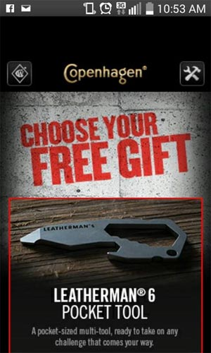 Free Sample Leatherman 6 Pocket Tool From Copenhagen (US only)