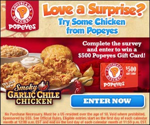 Get a $500 Popeyes Chicken Gift Card (US only)