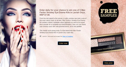 Free Max Factor Smokey Eye Drama Kits Worth £7.99 (UK only)