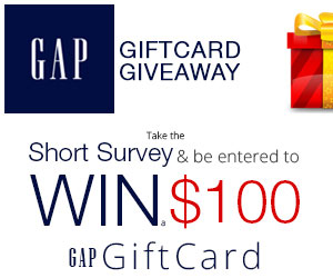 Win a $100 Gap Gift Card! (US only)