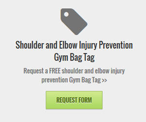 Free Shoulder and Elbow Injury Prevention Gym Bag Tag (US only)