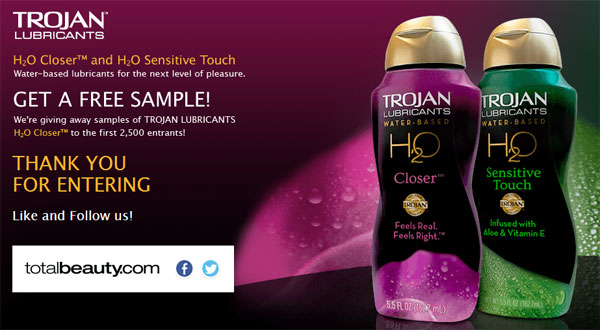 FREE Sample of Trojan Lubricant (US only)
