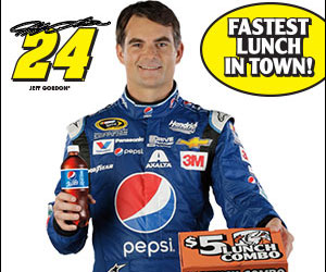 Jeff Gordon wins FREE lunch from Little Ceasers (US only)