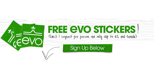 FREE Evo Stickers (US & CAN only)