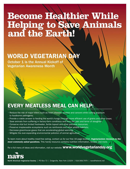FREE World Vegetarian Day Poster (US only)