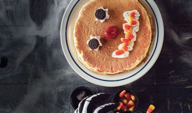 FREE Scary Face Pancakes for Kids on Halloween