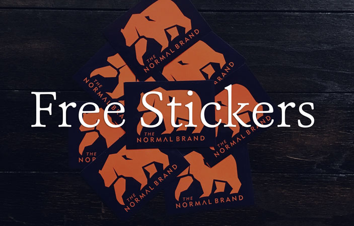 FREE Normal Brand Sticker...
