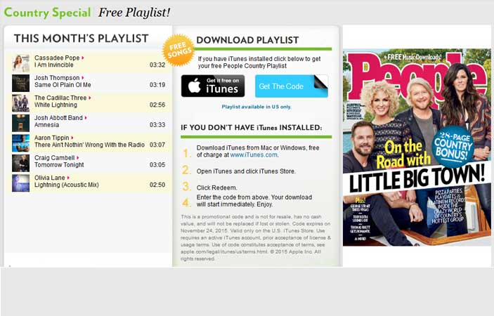 7 FREE Country Music Downloads from People Magazine (US only)