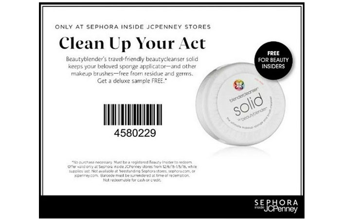 FREE Beauty Blender Solid Deluxe Sample at Sephora Inside