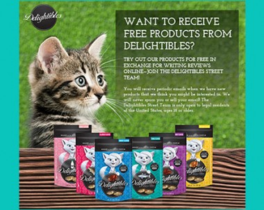FREE Delightibles Cat Treat Products (US)