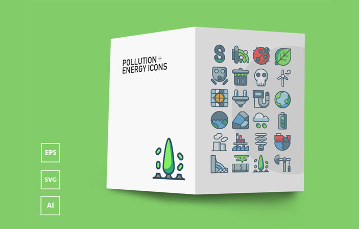 FREE Pollution & Energy Icons (AI, EPS, SVG)