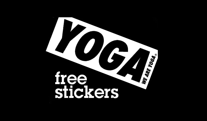 FREE Yoga Sticker From We Are Yoga