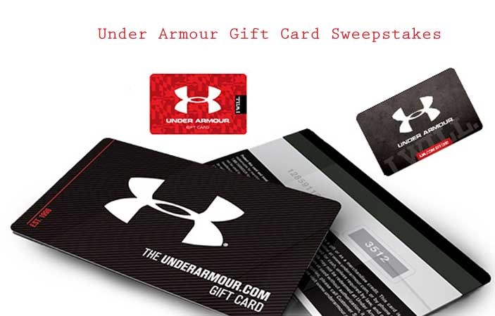 85d08af926 Under Armour Gift Card Sweepstakes (US only)