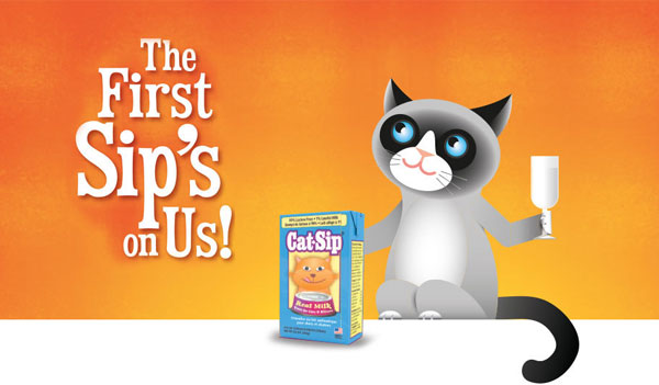 FREE Cat-Sip Real Milk Treat Sample (US)