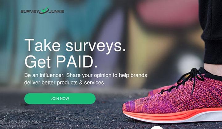 Survey Junkie – Earn Cash Online FREE