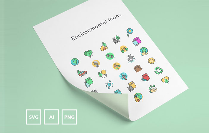 FREE Environmental Icons (AI, SVG, PNG)