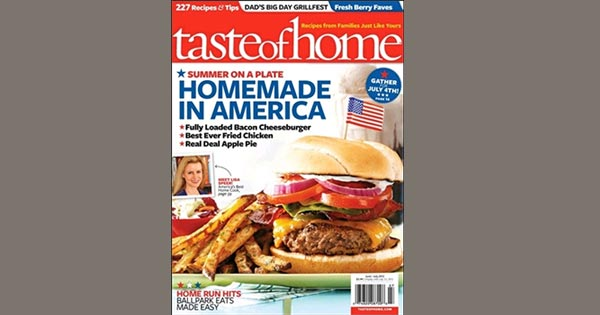 FREE Subscription to Taste of Home Magazine (US only)