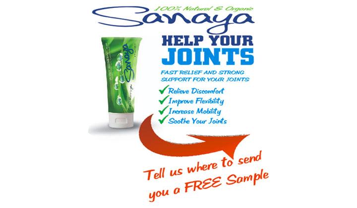 FREE Sanaya Natural Pain Relief Cream Sample