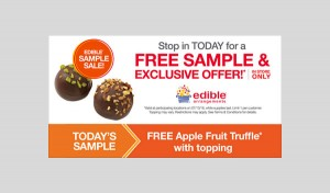 are fruit stickers edible fruit dip