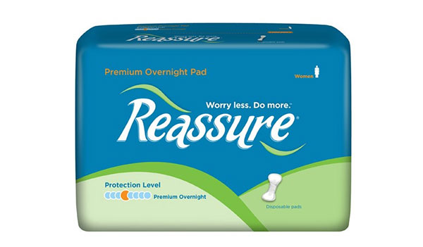 FREE Reassure Pads, Liners Underwear or Washcloth Samples (US)