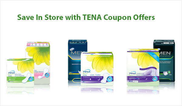Tena Coupons For Free Pads and Underwear at Walmart (US)
