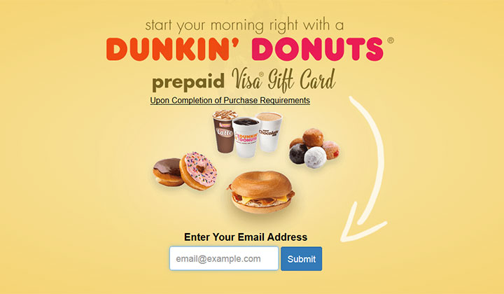 Dunkin Donuts Gift Card – One Field