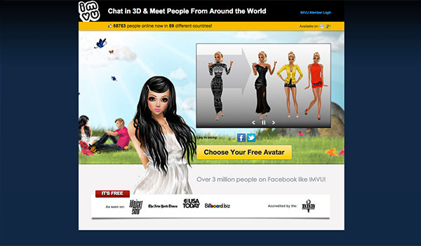 IMVU Avatars (US, CA, AU)