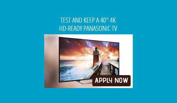 MyOffers – Test 40 inch 4K Panasonic TV (UK only)