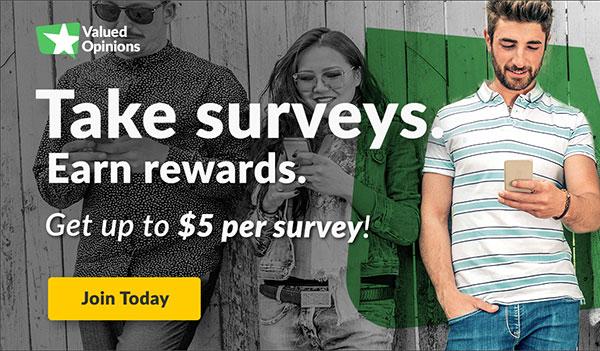 Valued Opinions – Online Surveys for Cash (US)
