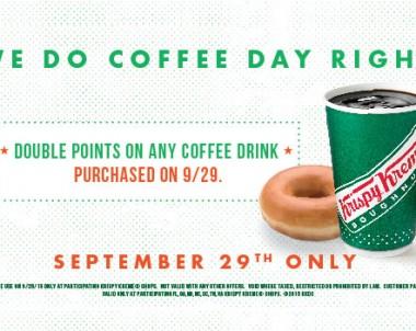 FREE Coffee + Doughnut at Krispy Kreme (US & CAN)