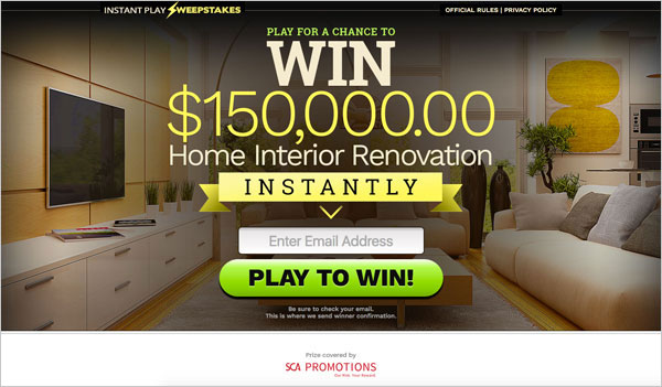 $150,000 Home Renovation – Email Submit (US only)