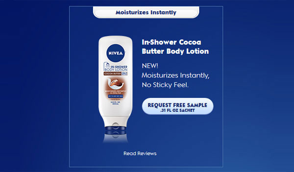 FREE Nivea In-Shower Body Lotion Sample (US)
