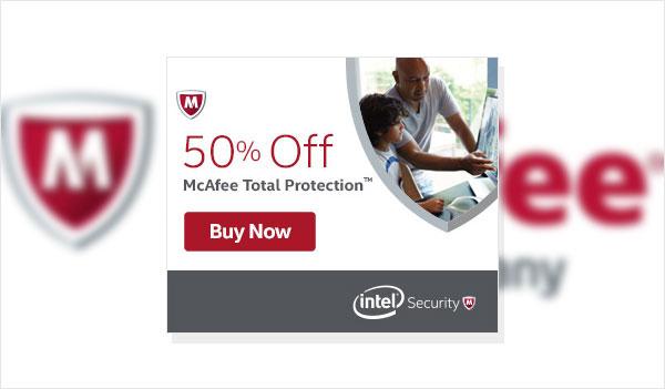 McAfee AntiVirus Coupon – 50% Off (US)