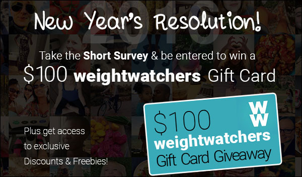 $100 Weight Watchers Gift Card Giveaway (US)