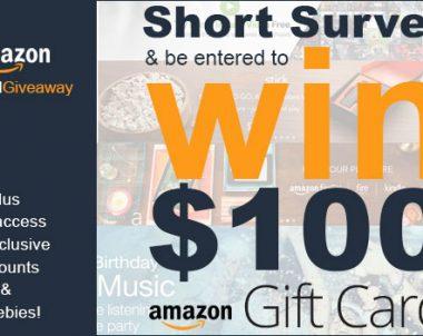 $100 Amazon Gift Card Giveaway (US)