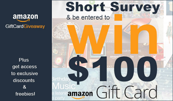 $100 Amazon Gift Card Giveaway (US)