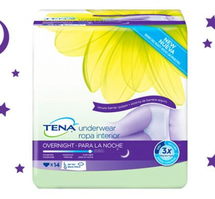 FREE TENA Overnight Underwear Sample