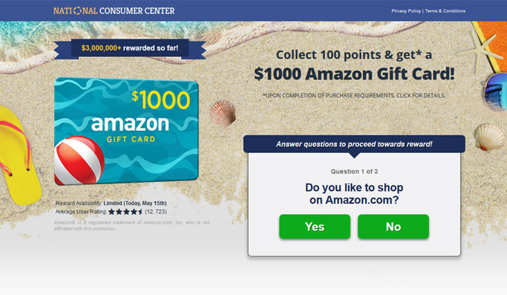 Get a $1000 Amazon Gift Card – One Field