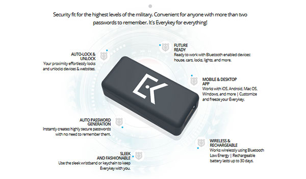 EveryKey Bluetooth Device