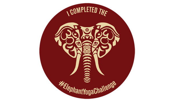 FREE #ElephantyogaChallenge Sticker (US)