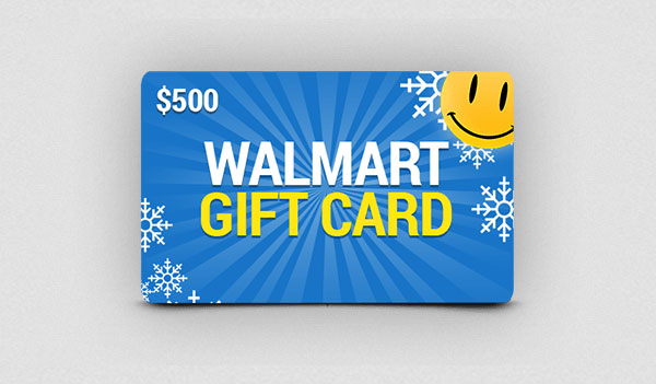 $500 Holiday Walmart Gift Card – Big Brand Gift Cards (US)